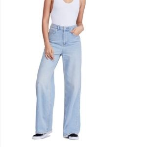 UO | BDG High Rise Wide Leg Puddle Jeans
